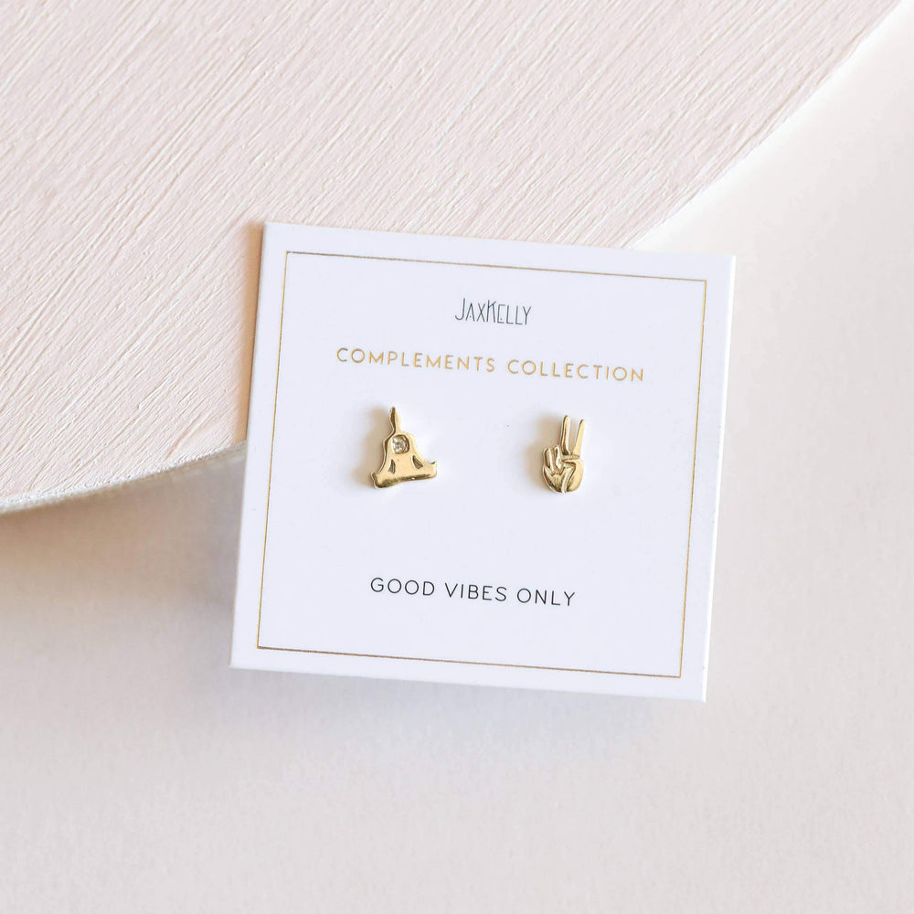 Load image into Gallery viewer, Zen Stud Earrings