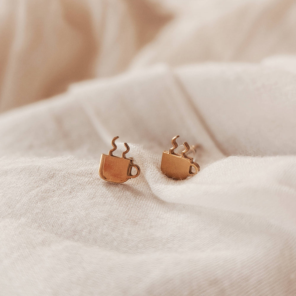 Cuppa Coffee Stud Earrings