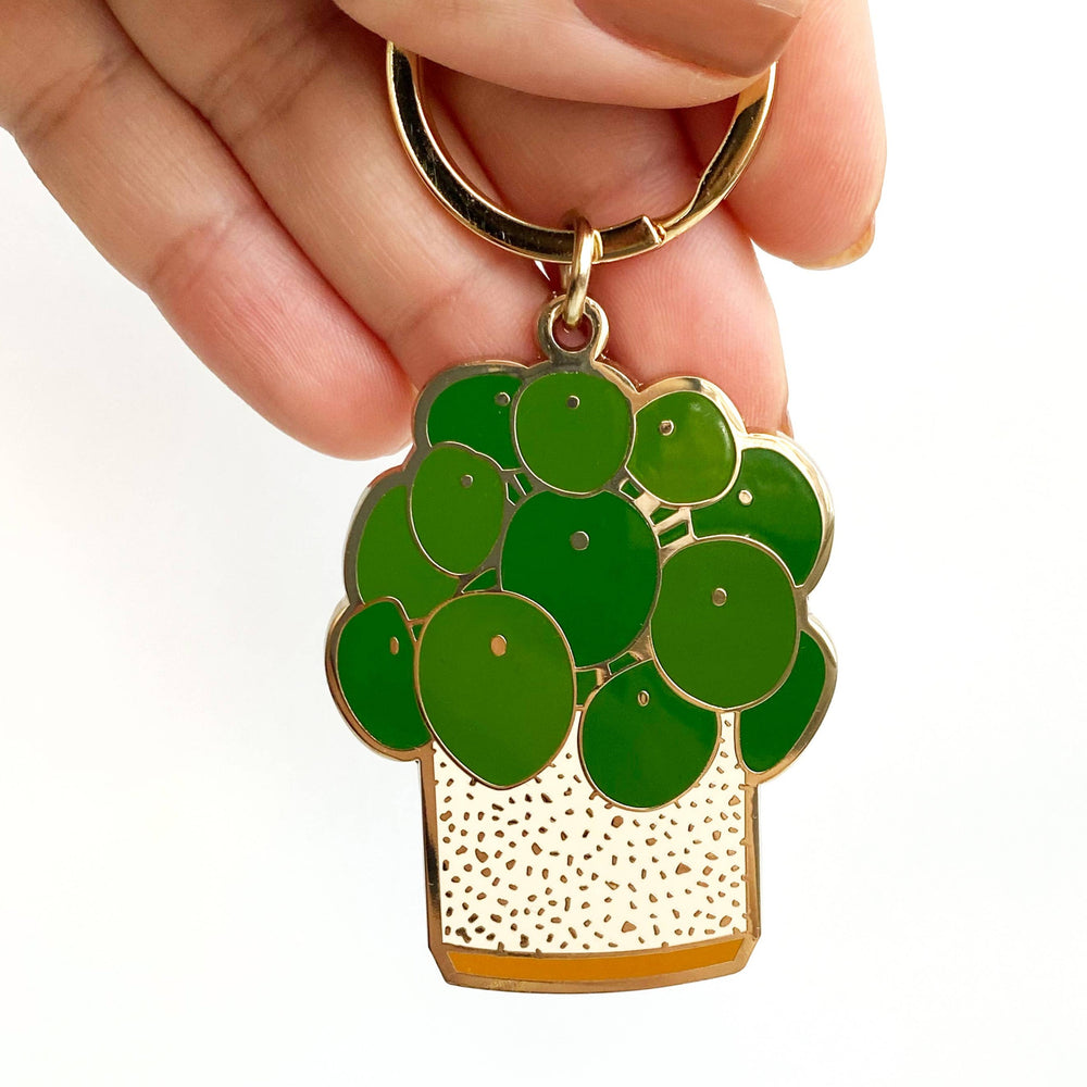 Load image into Gallery viewer, Pilea Plant Keychain