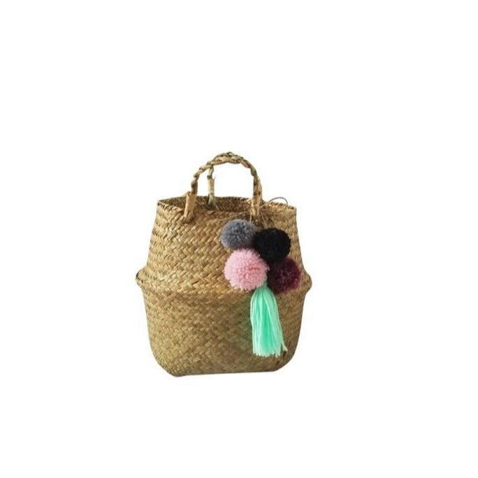 Load image into Gallery viewer, Isla Pom Pom Basket