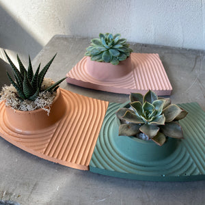 Small Cement Succulent Tray