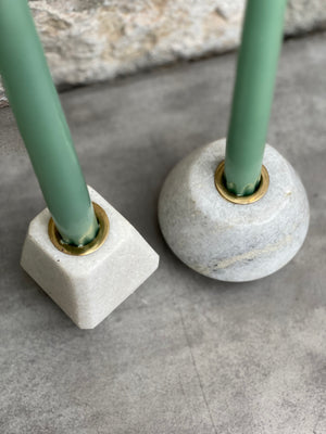 Marble Tapered Candle Holder