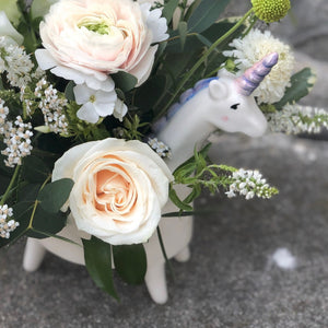 Eunice the Unicorn Vase Arrangement
