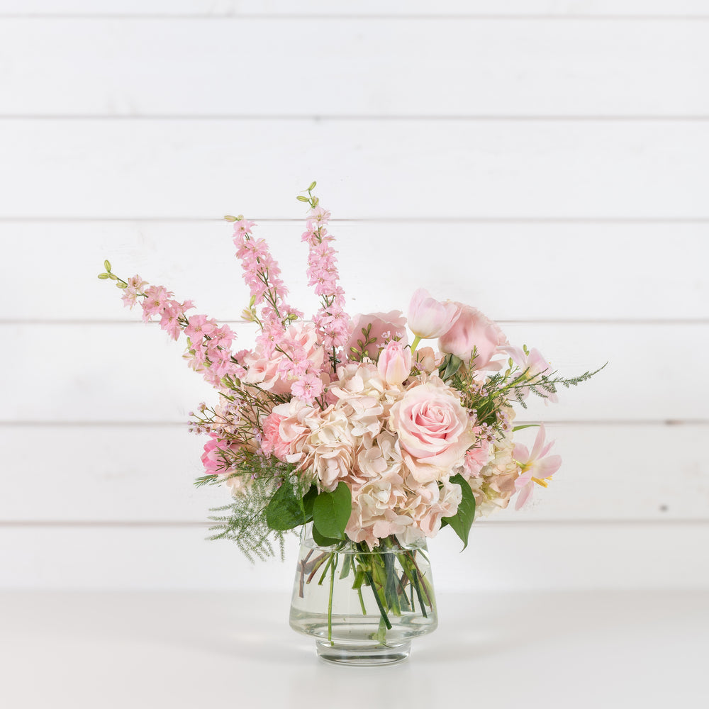 Pink Cloud Vase Arrangement