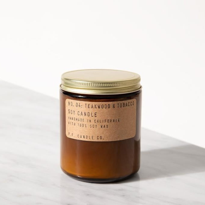Teakwood + Tobacco - 7.2 oz Soy Candle