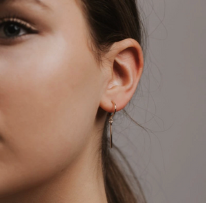 Load image into Gallery viewer, Everly Bar Hoop Earrings