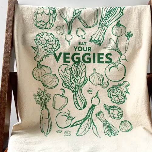 Load image into Gallery viewer, Eat Your Veggies Tea Towel