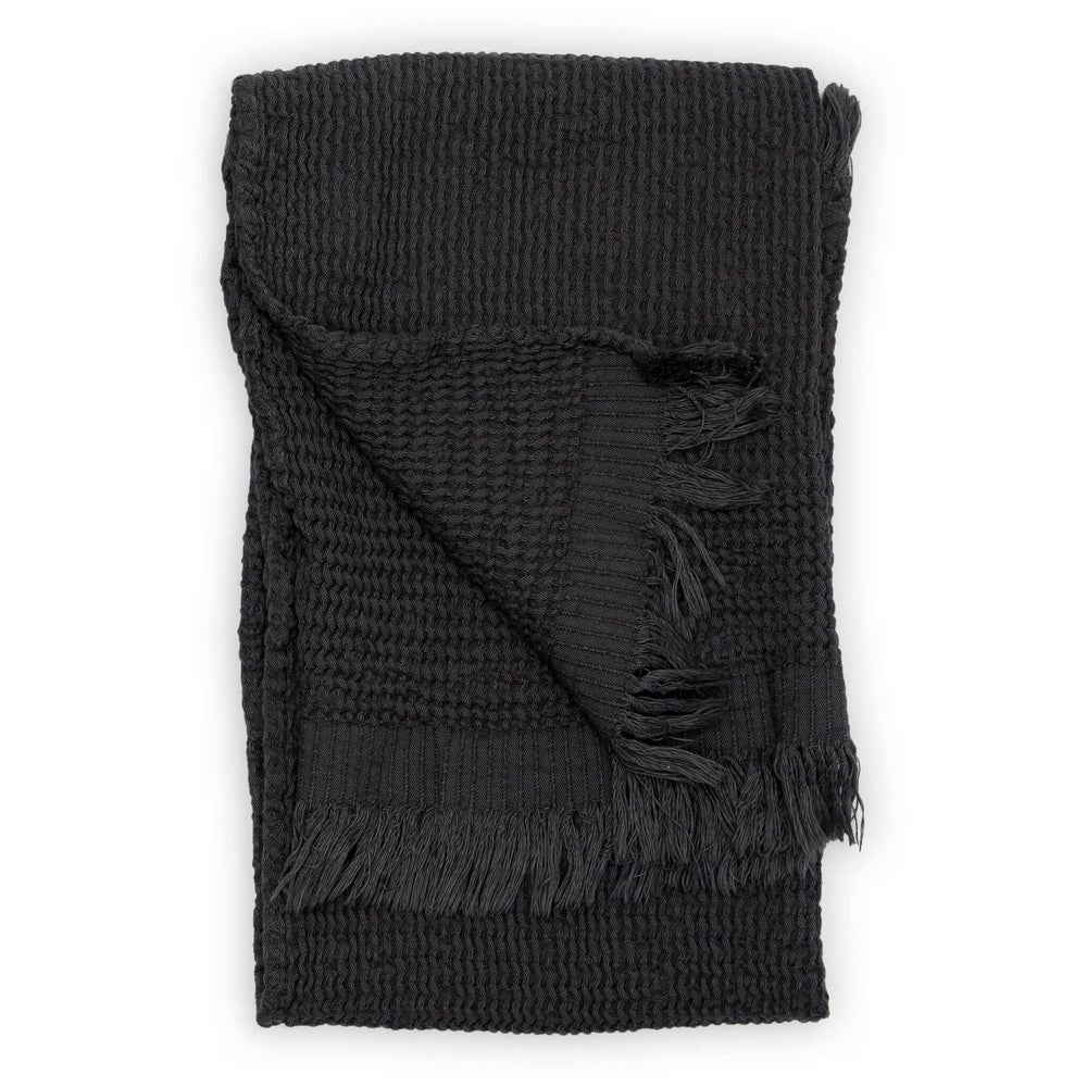 Wave Charcoal Hand-Towel