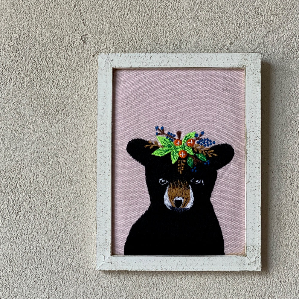 Bear with Flower Crown Wall Art