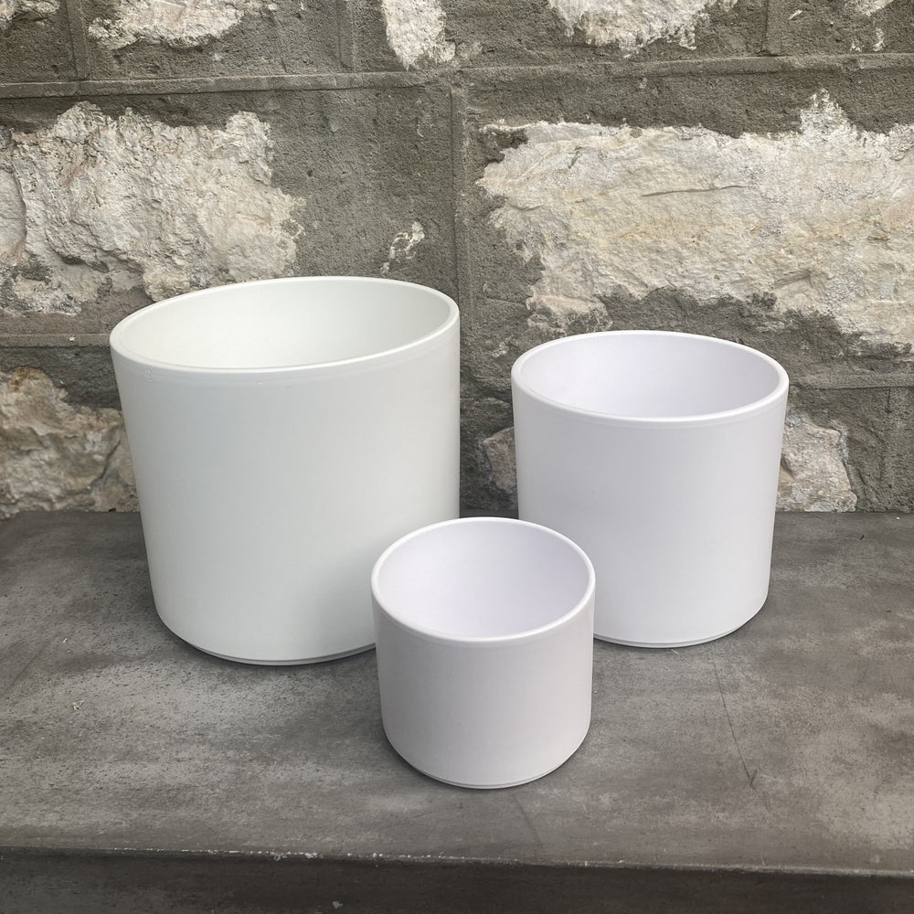 Load image into Gallery viewer, Pillar Pot Collection - Matte White