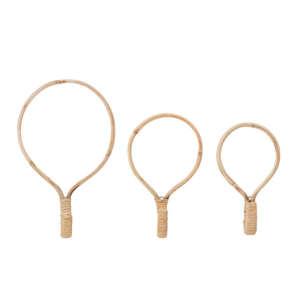 Load image into Gallery viewer, Rattan Wall Hooks- Set of 3