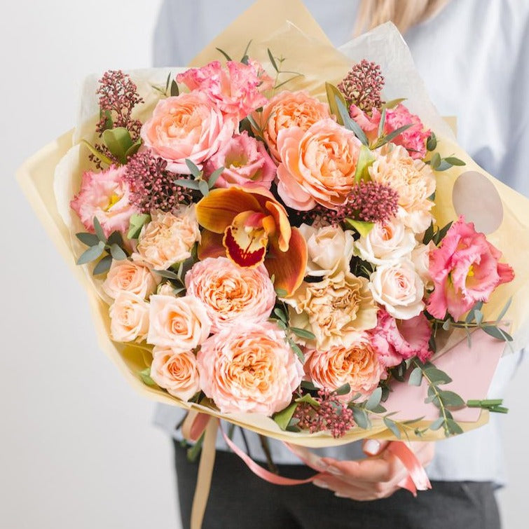 Peach Dreams Hand-Tied