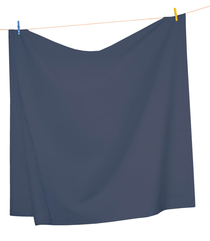 Flat Top Sheet - Dark Colors - Soft and Comfortable 1800 Prestige Brushed Microfiber Collection