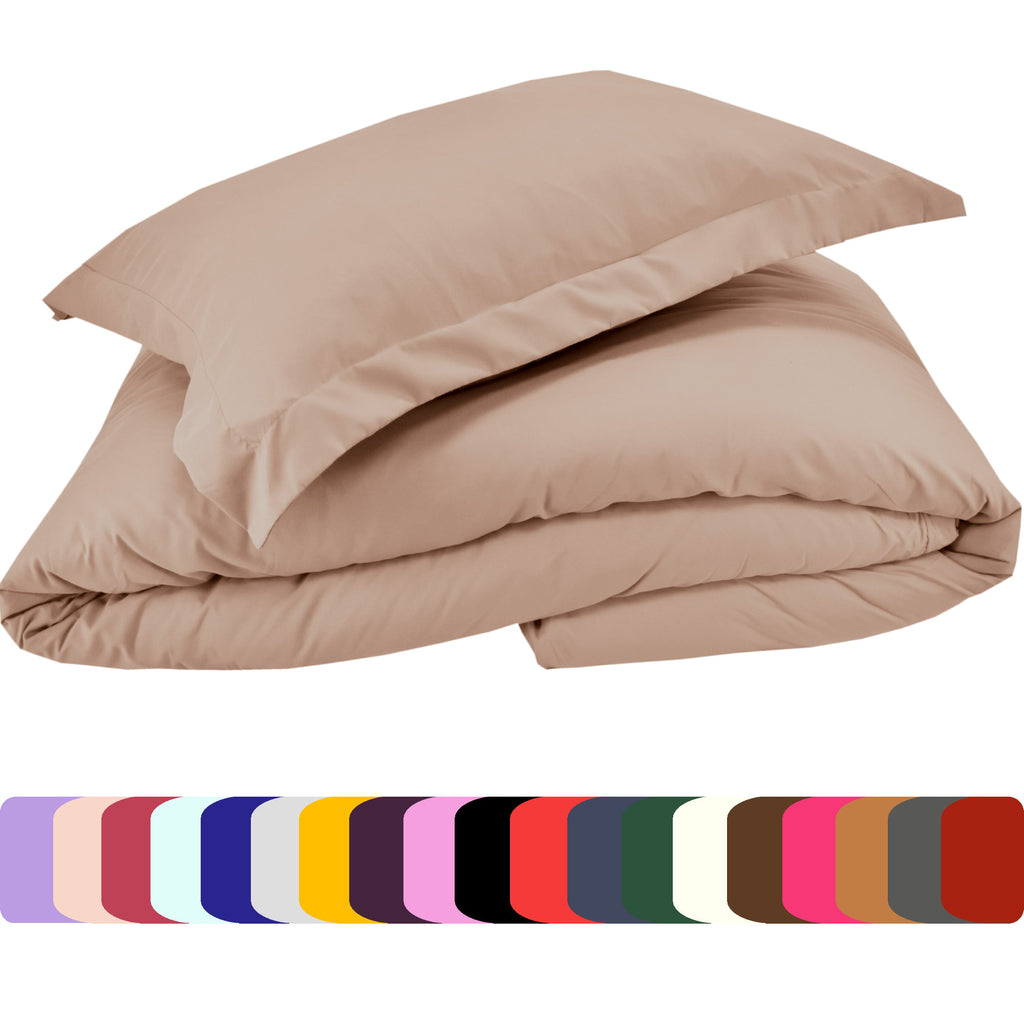 Duvet Cover and Shams Set - Soft and Comfortable 1800 Prestige Brushed Microfiber Collection