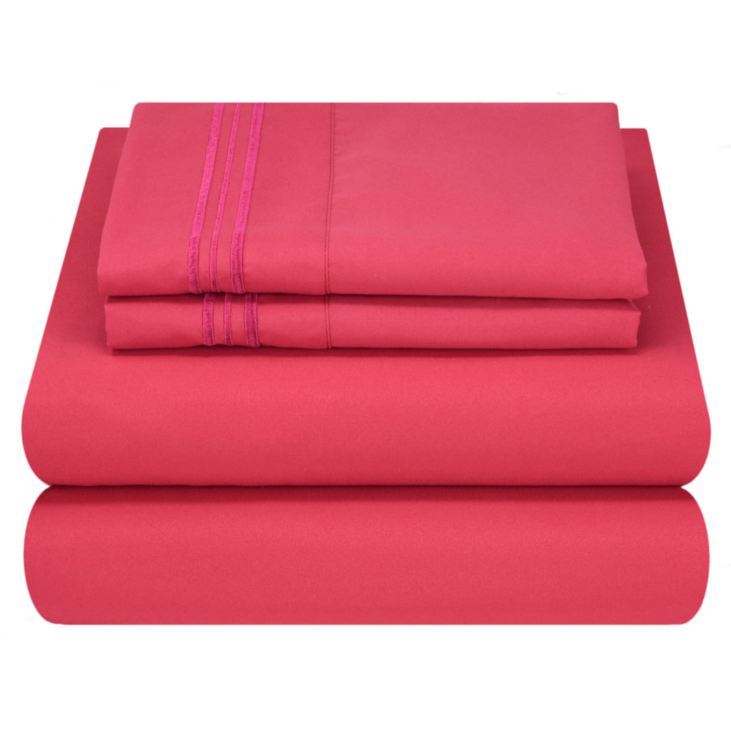 Bed Sheet Set - Bright Colors - Soft and Comfortable 1800 Prestige Brushed Microfiber Collection