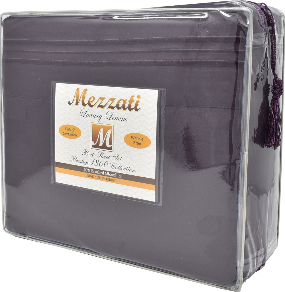 Mezzati Luxury 1800 Prestige Collection Soft and Comfortable Waterbed Sheets Set