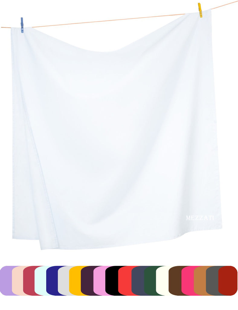 Flat Top Sheet - Light Colors - Soft and Comfortable 1800 Prestige Brushed Microfiber Collection