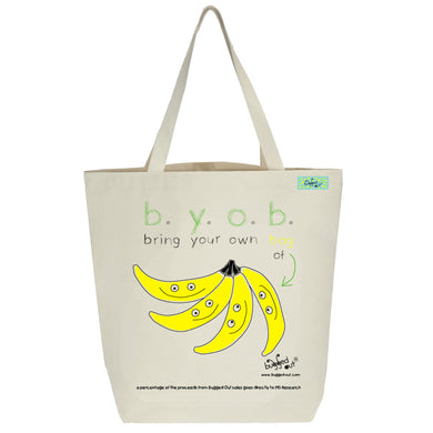 Bugged Out banana tote bag