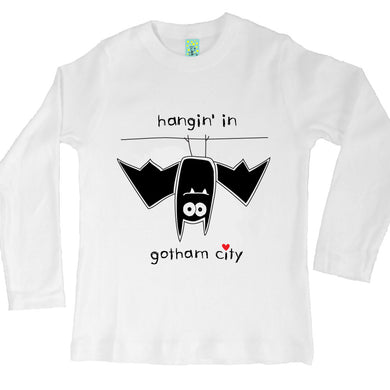 Bugged Out bat long sleeve kids t-shirt