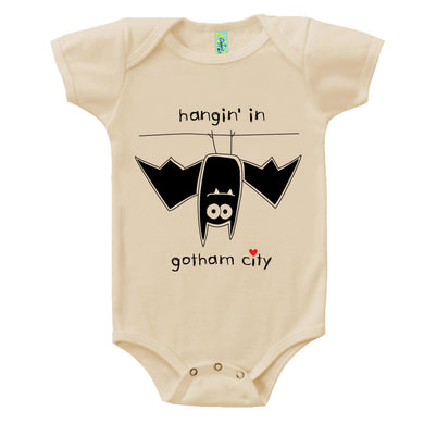 Bugged Out bat short sleeve baby onesie