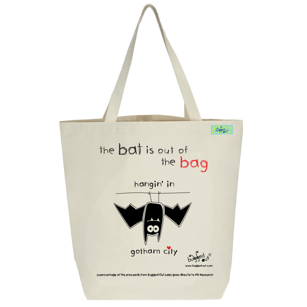 Bugged Out bat tote bag