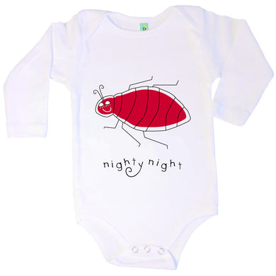 Bugged Out bedbug long sleeve baby onesie