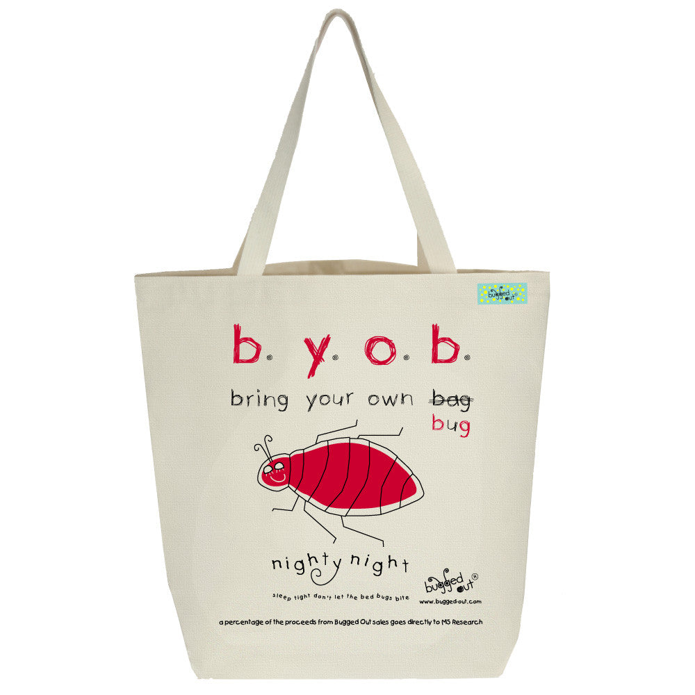 Bugged Out bedbug tote bag