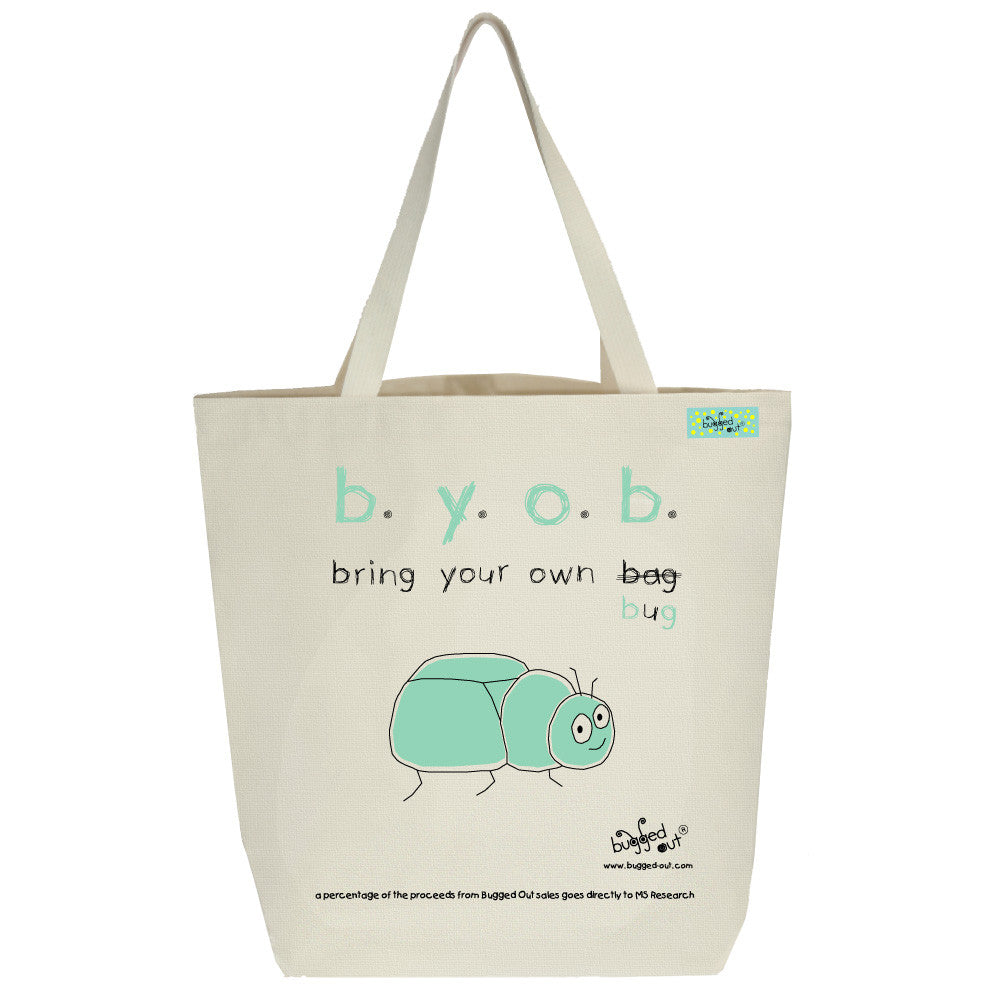 Bugged Out beetle tote bag