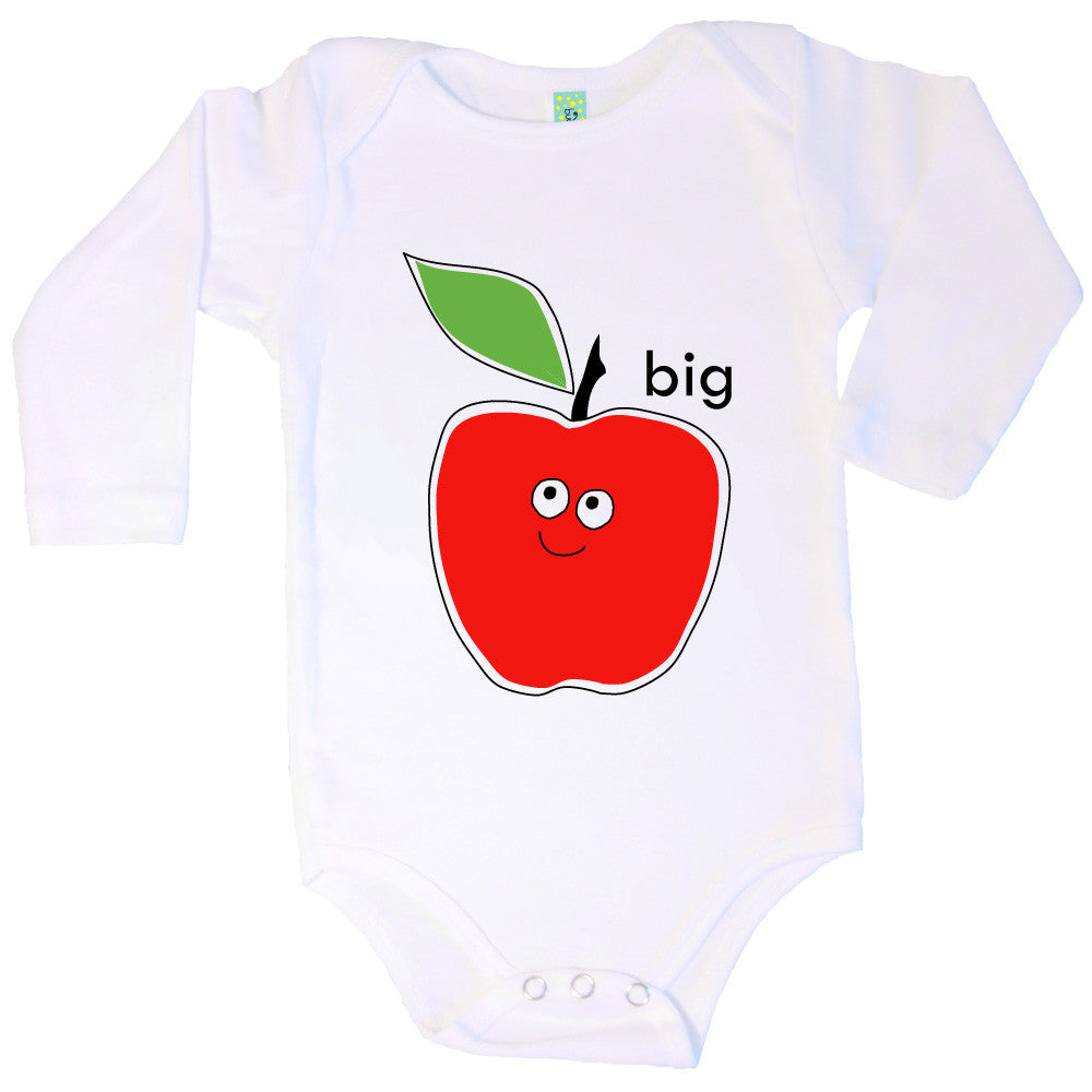 Bugged Out big apple long sleeve baby onesie