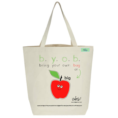Bugged Out big apple tote bag