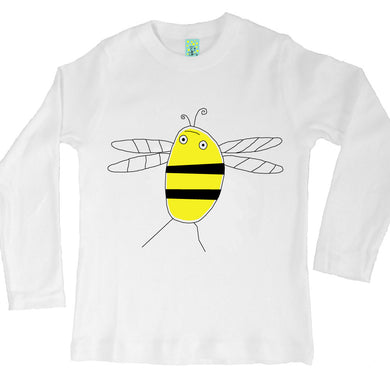 Bugged Out bumblebee long sleeve kids t-shirt