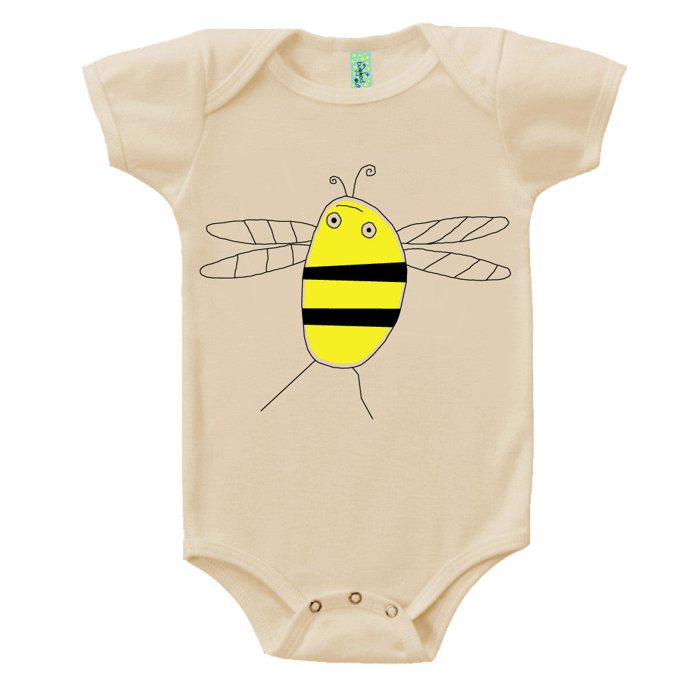 Bugged Out bumblebee short sleeve baby onesie
