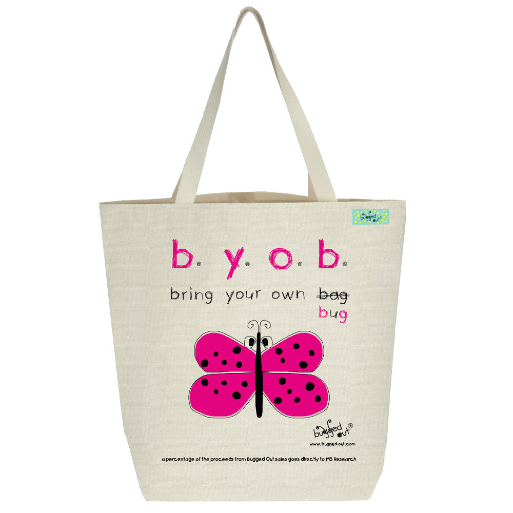 Bugged Out butterfly tote bag
