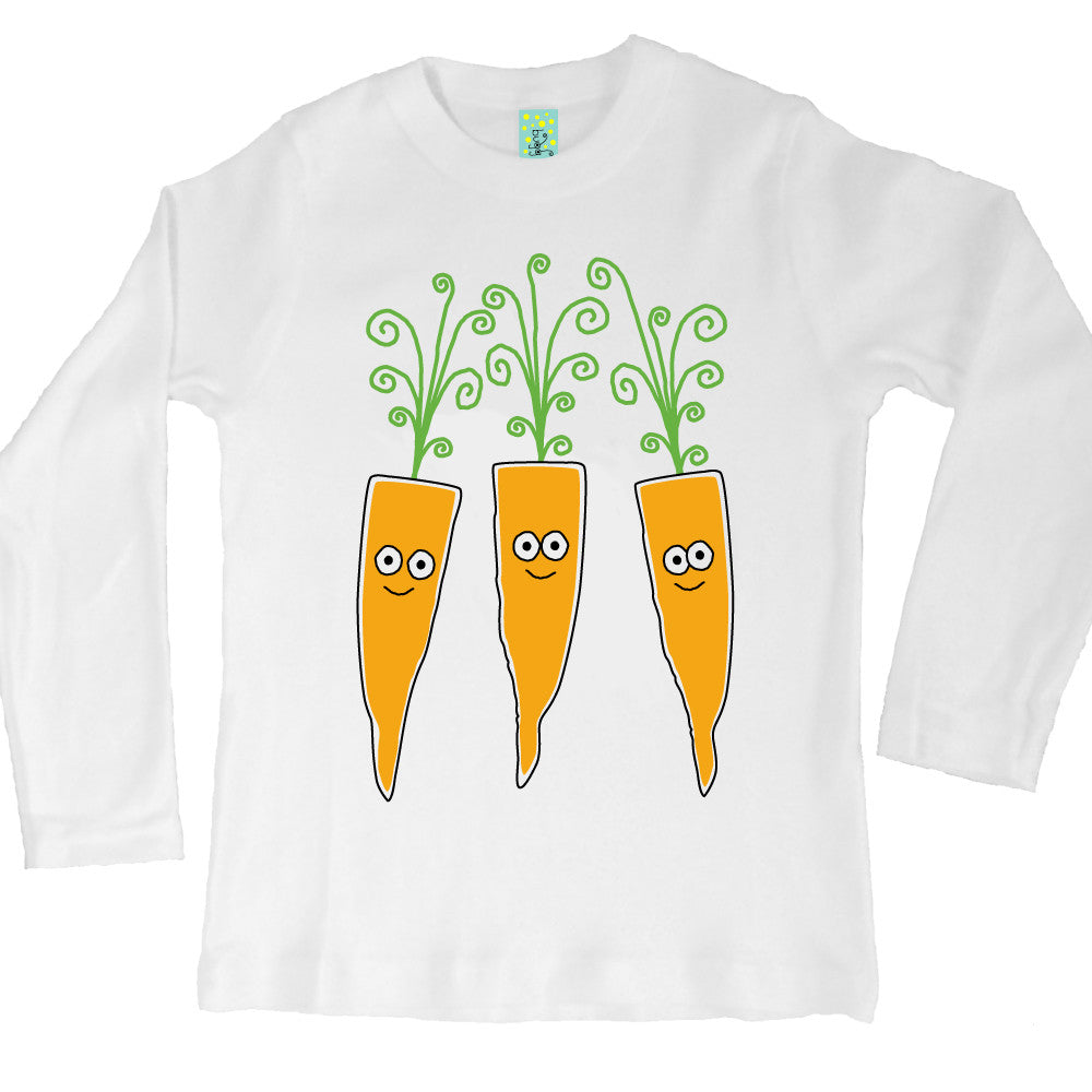 Bugged Out carrot long sleeve kids t-shirt