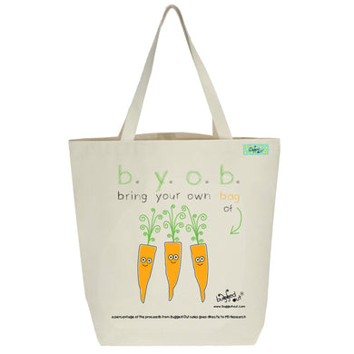 Bugged Out carrot tote bag