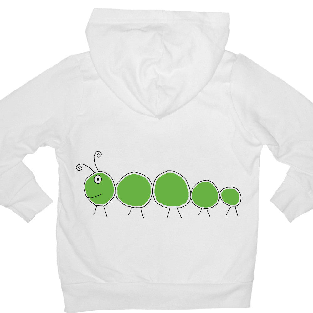 Bugged Out caterpillar kids hoodie