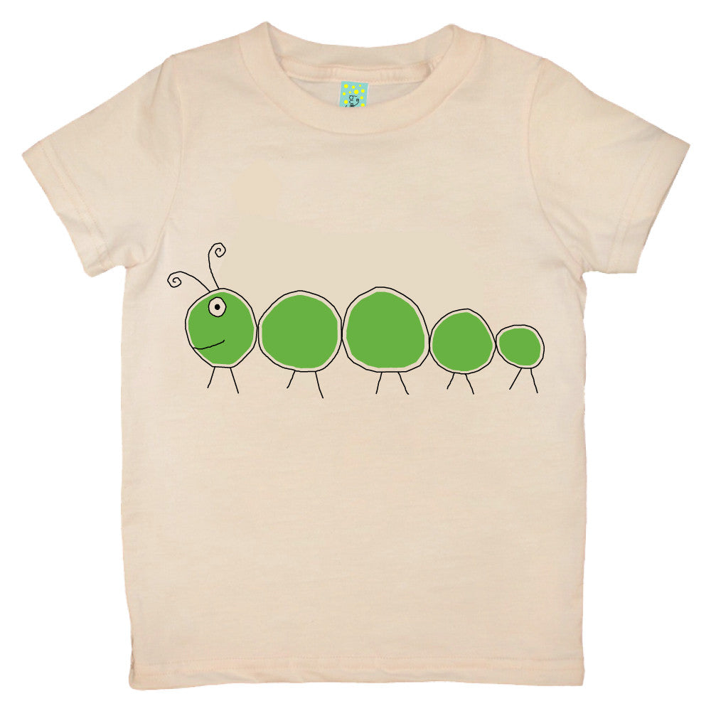 Bugged Out caterpillar short sleeve kids t-shirt