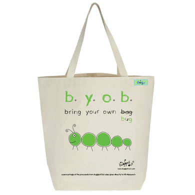 Bugged Out caterpillar tote bag