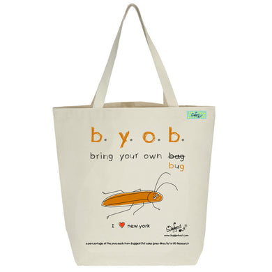 Bugged Out cockroach tote bag
