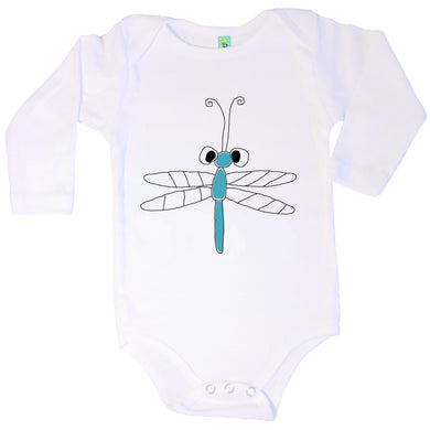 Bugged Out dragonfly long sleeve baby onesie