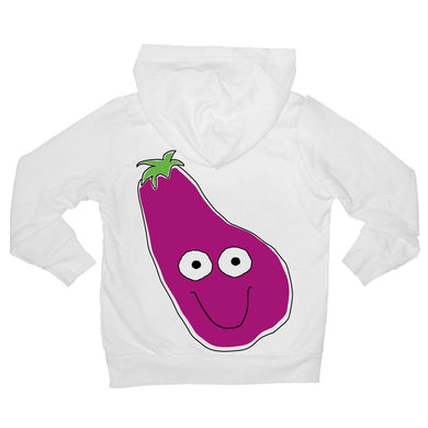 Bugged Out eggplant baby hoodie