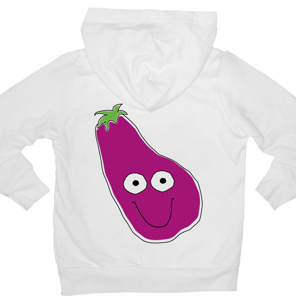 Bugged Out eggplant kids hoodie