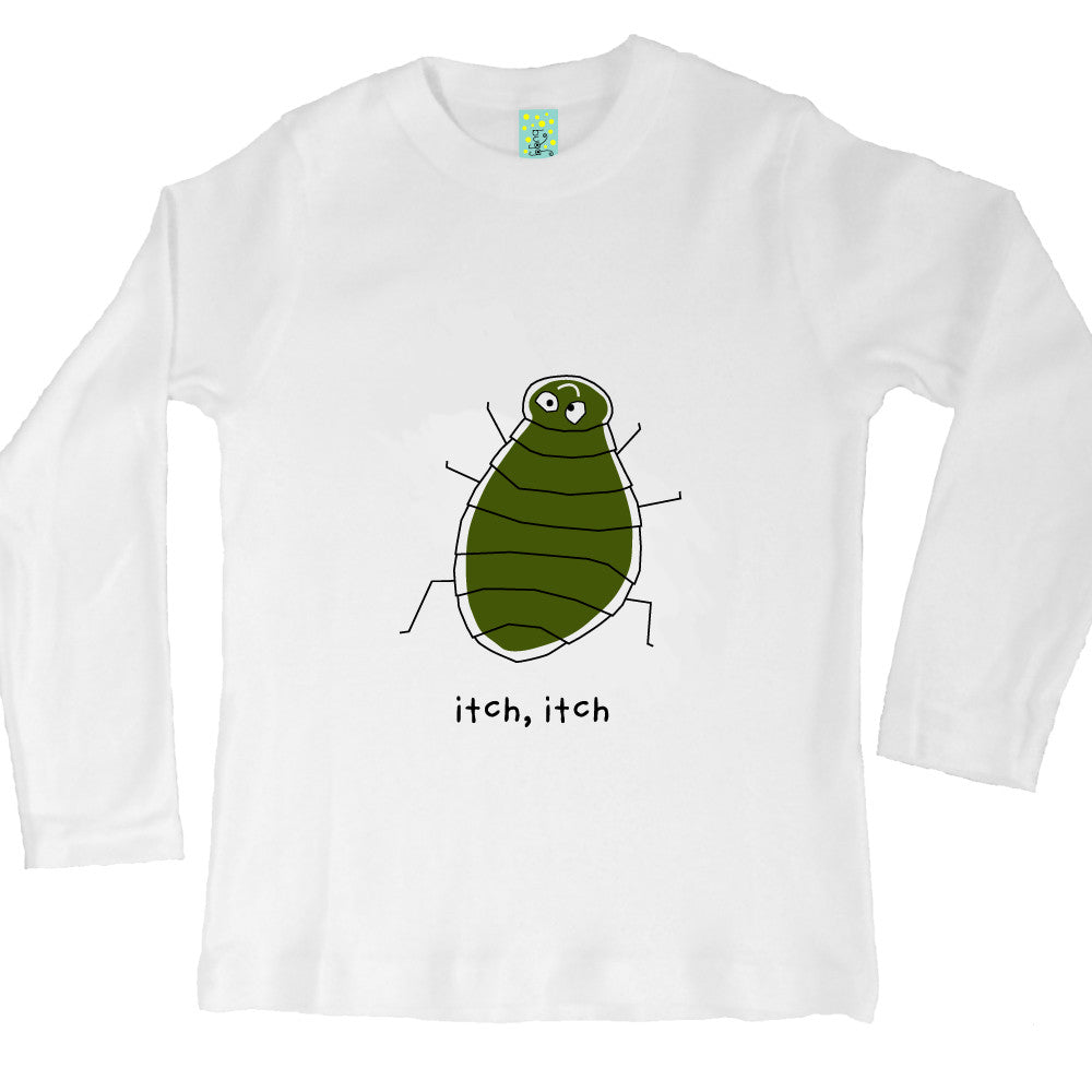 Bugged Out flea long sleeve kids t-shirt