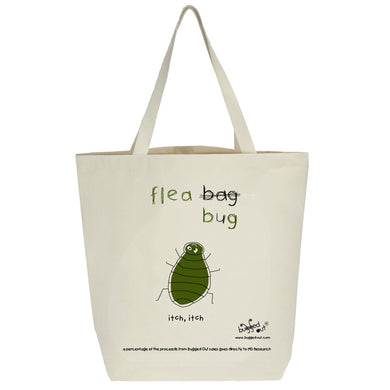Bugged Out flea tote bag