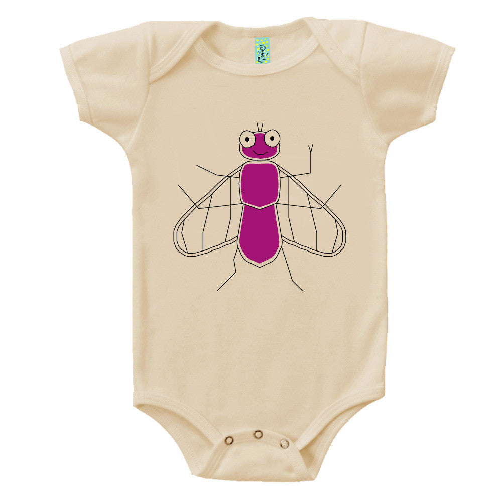 Bugged Out fly short sleeve baby onesie