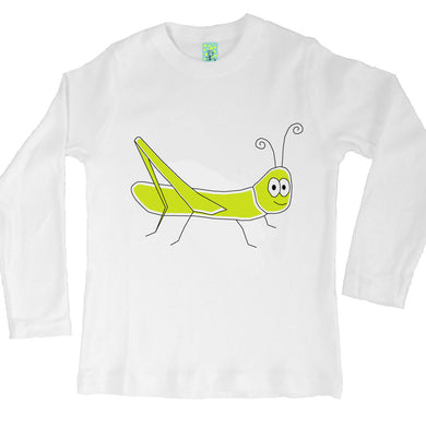 Bugged Out grasshopper long sleeve kids t-shirt