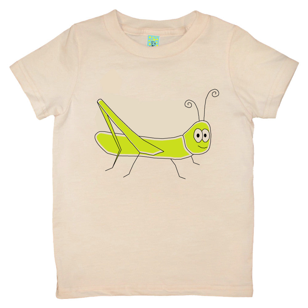 Bugged Out grasshopper short sleeve kids t-shirt