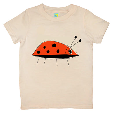 Bugged Out ladybug short sleeve kids t-shirt