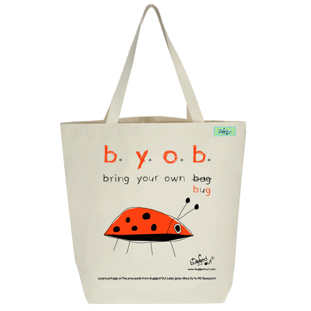 Bugged Out ladybug tote bag