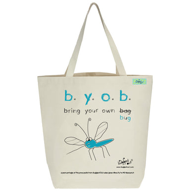 Bugged Out mosquito tote bag